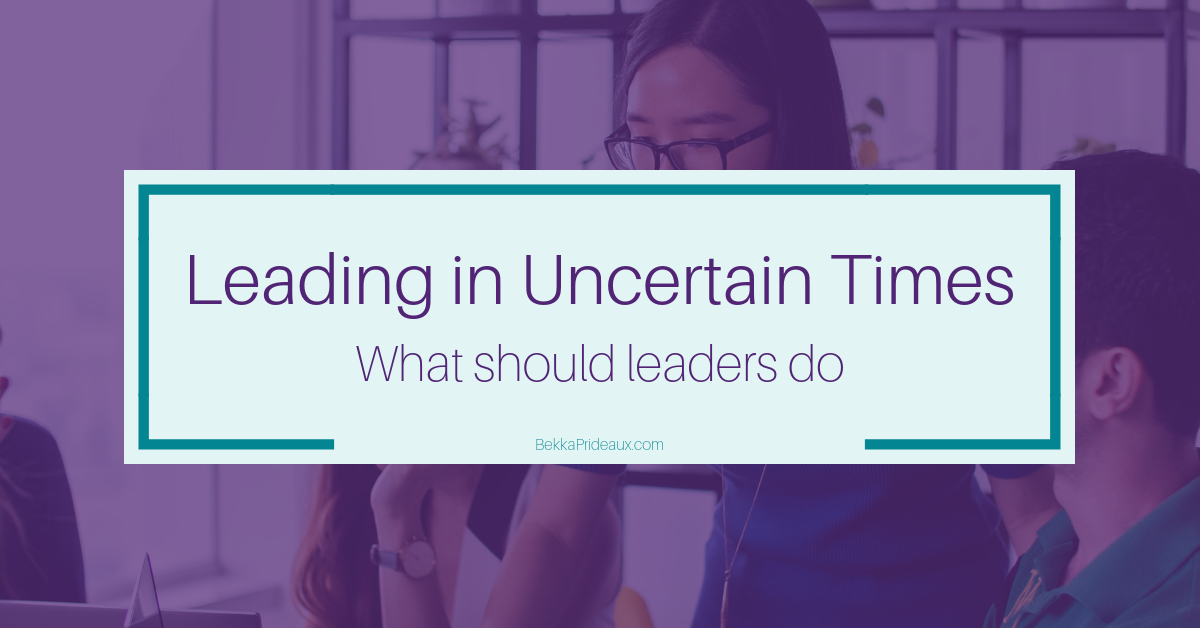 Leading in Uncertain Times, What to do to lead your team when you are surrounded by ambiguity