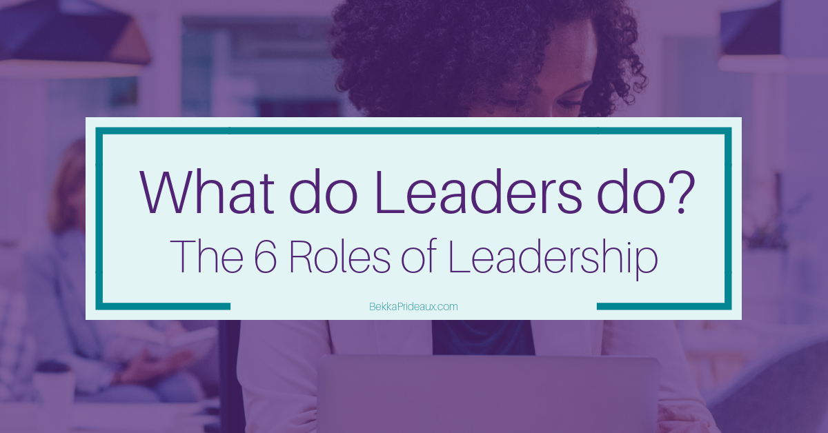 The 6 Roles of Leadership - What Leaders do